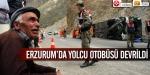 Erzurumda yolcu otobüsü devrildi
