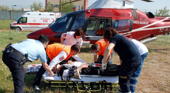 Çanakkalede kaza: 17 kişi yaralandı
