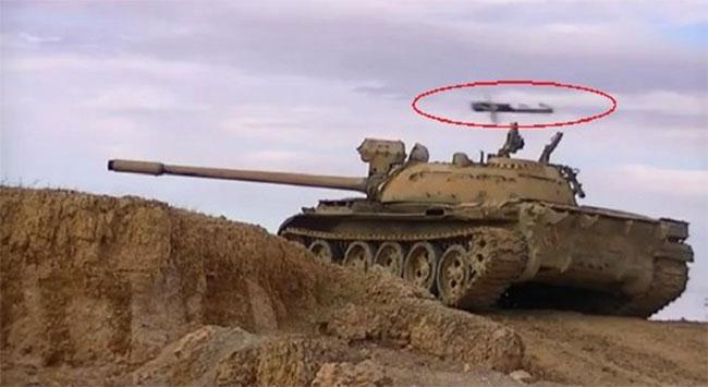 Bir tankın füzelerle imtihanı...
