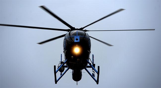 Şehrin ortasına helikopter düştü