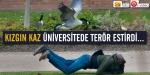 Kızgın kaz üniversitede terör estirdi...