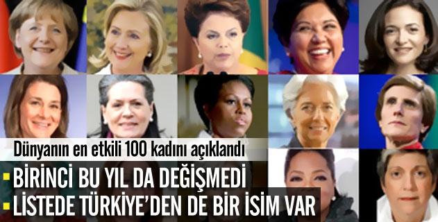 Dünyanın en etkili 100 kadını
