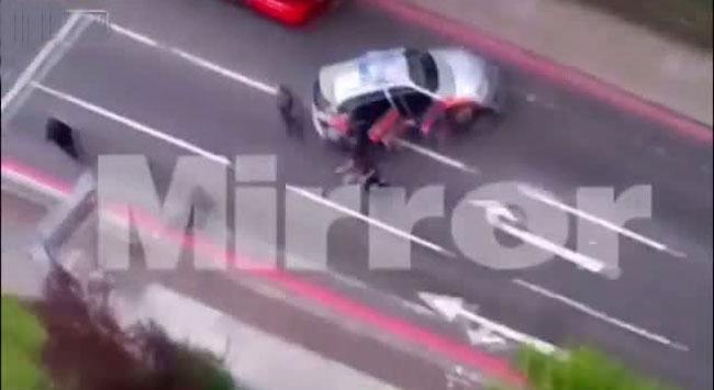 İşte Londra saldırganının vurulma anı
