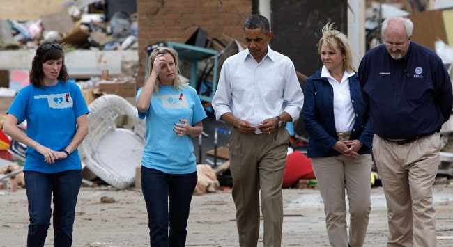 Obamadan hortum bölgesine ziyaret