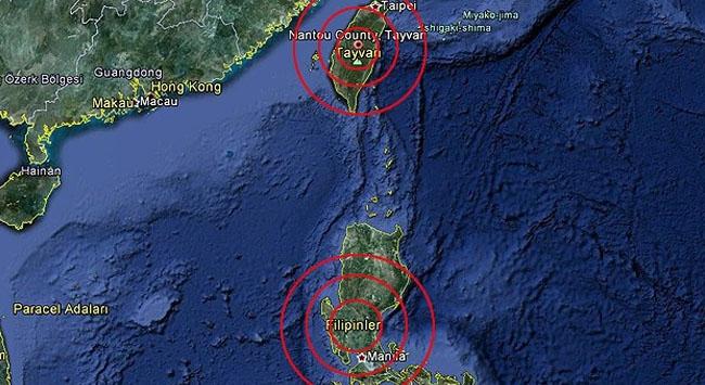 Tayvan ve Filipinler depremle sarsıldı