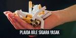 Plajda bile sigara yasak