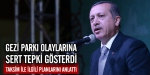 Başbakandan Gezi Parkı olaylarına tepki