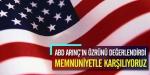 ABD, Arınçın özrünü değerlendirdi