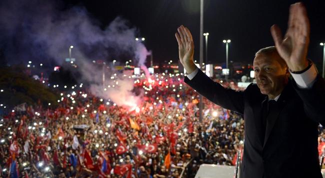 Erdoğanı onbinler karşıladı
