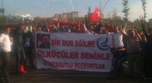 Başbakan Erdoğanı ülkücüler karşıladı