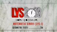 2013 LYS Matematik ve Geometri cevapları