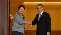 Gül ve Rousseff'ten Sıcak Mesajlar