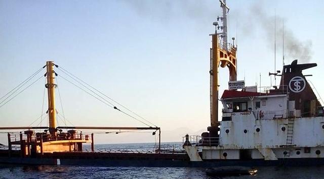 Akdenizde Türk kuru yük gemisi battı