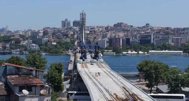 Haliç metro köprüsü bitiyor