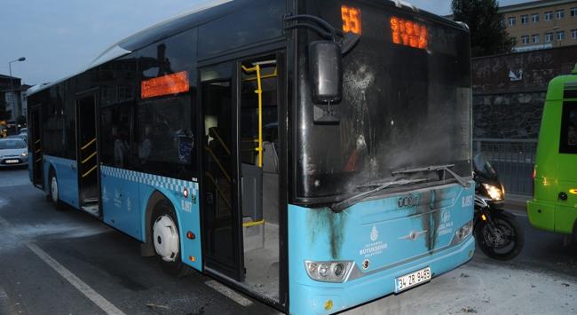 Halk otobüsüne molotoflu saldırı