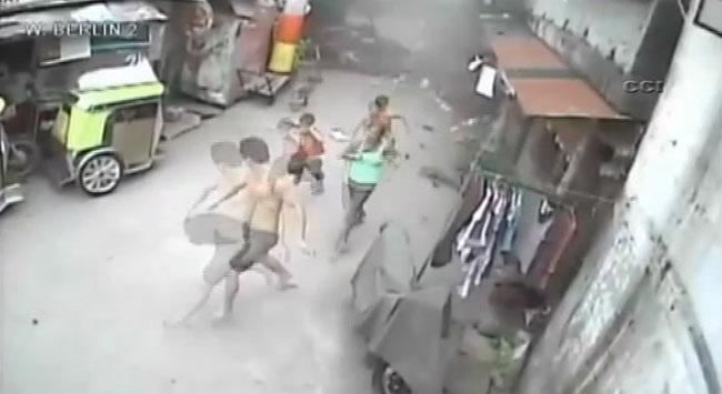 Filipinlerde gaz tankı böyle patladı