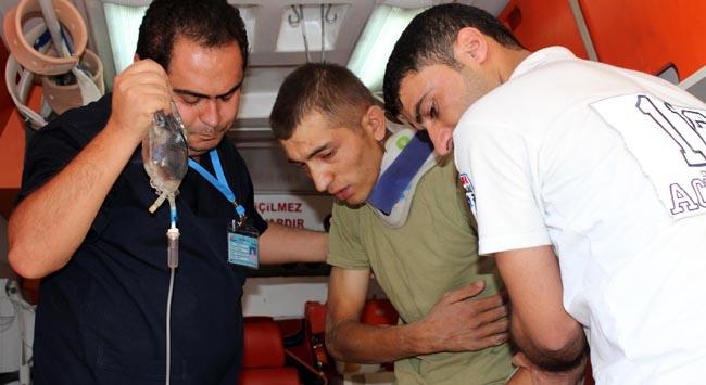 Akçakalede askeri araç kaza yaptı: 6 yaralı