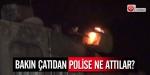 Polise çekyatla saldırdılar