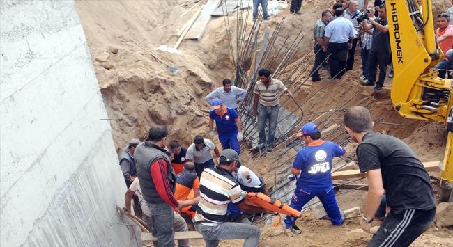 İstinat duvarı çöktü: 2 ölü, 1 yaralı