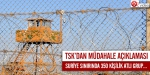 TSKdan Suriye sınırı ile ilgili açıklama