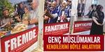 Almanyada Genç Müslümanlardan afişli tanıtım