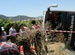 Manisada otobüs kazası: 2 ölü