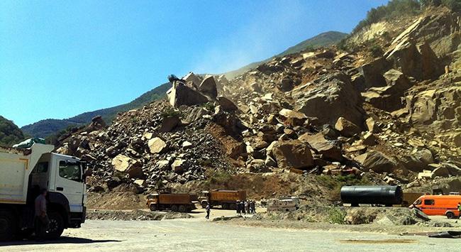 Maden ocağındaki patlama anı