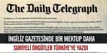 Suriyeli muhaliflerden Türkiyeye mektup