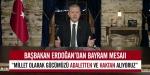 Başbakan Erdoğanın bayram mesajı