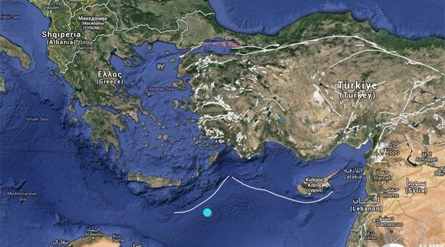 Akdenizde 4,7 büyüklüğünde deprem
