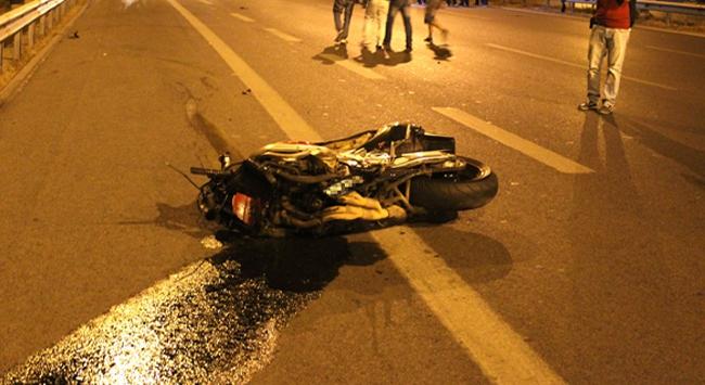 Motosiklet yar��� Felaket ile Sona Erdi