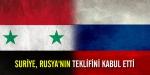 Suriye, Rusyanın teklifini kabul etti