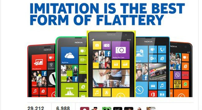 Nokiadan iPhonea gönderme