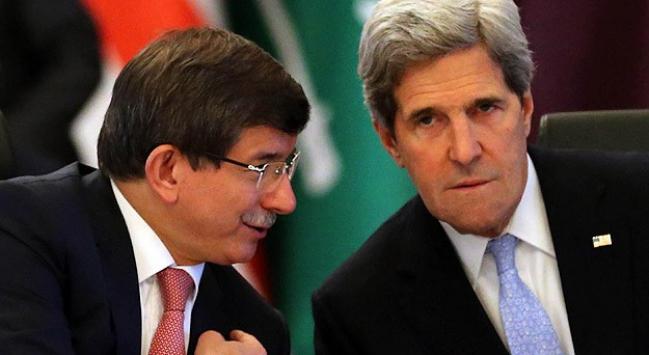 Kerry, Davutoğlunu Parise davet etti