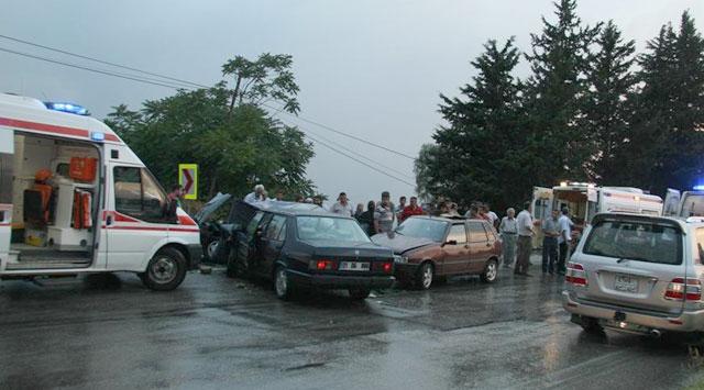 Osmaniyede trafik kazası: 1 ölü, 6 yaralı