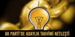 AK Partide adaylık takvimi netleşti