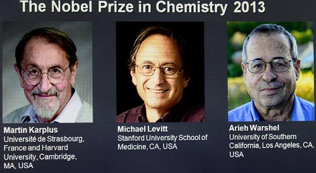 Nobel Kimya Ödülünü 3  kişi paylaştı