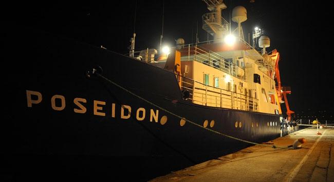 """Alman araştırma gemisi """"Poseidon"""" Türkiyede"""