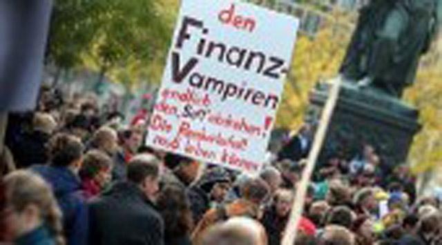 "Almanyada da ""Frankfurtu İşgal Et"" Eylemi"