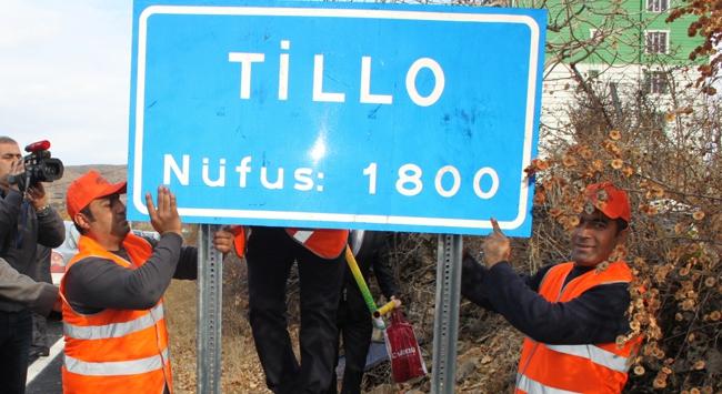 Tillo tabelası asıldı