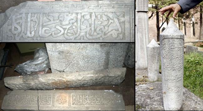 Süleyman Çelebinin mezar taşları depoda bulundu