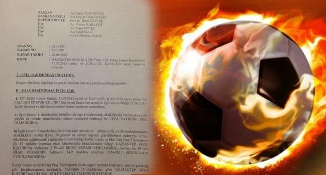 İşte Türk futbolunu sarsan o belge