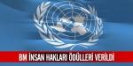 BM insan hakları ödülleri verildi