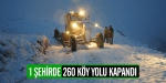 260 köy yolu kapandı