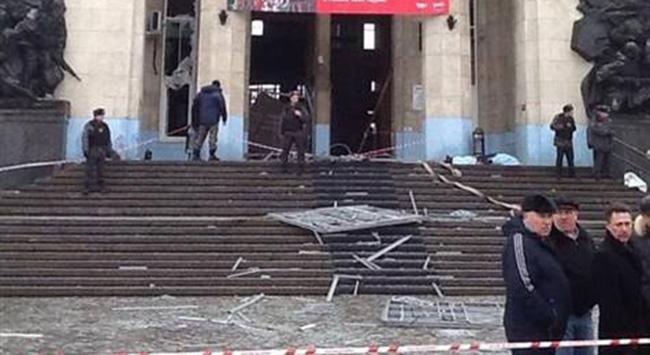 Rusya'nın volgograd şehrindeki tren istasyonunda meydana gelen