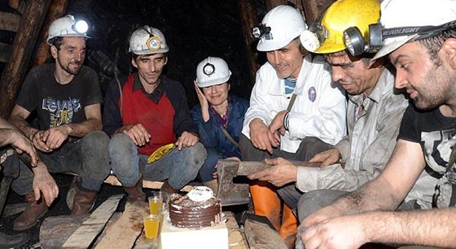 Maden ocağında yılbaşı