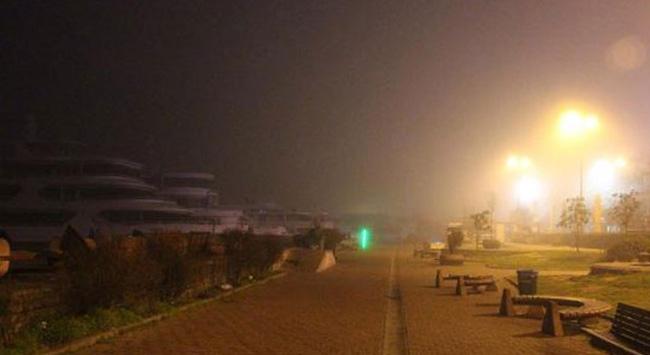 Deniz trafiğine sis engeli