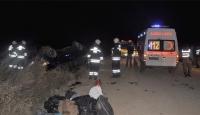 Kaçakları Taşıyan Minibüs Kaza Yaptı