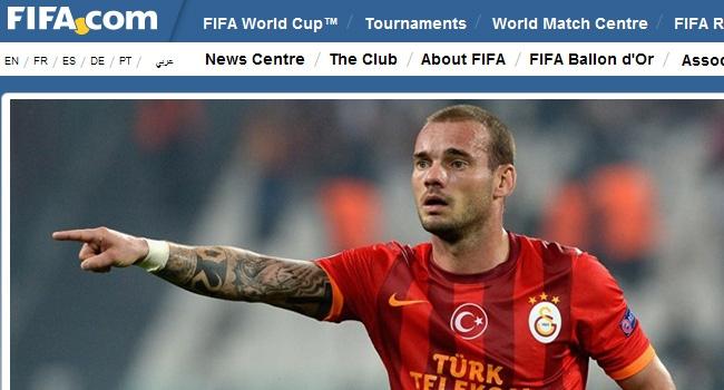 FIFA Sneijderi manşete taşıdı