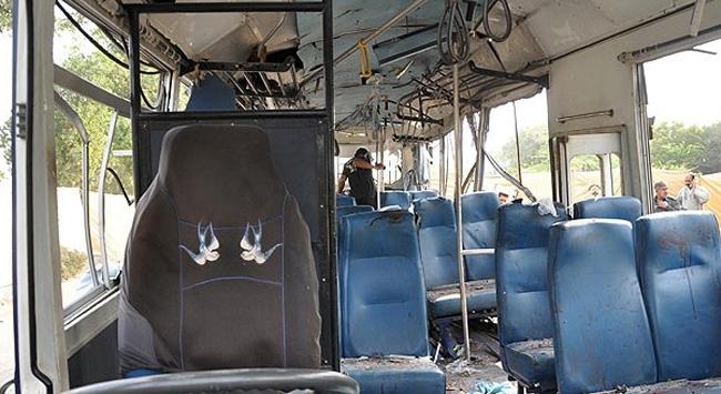 Turist otobüsüne saldırdılar